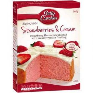 Betty Crocker Cake Mix Strawberries & Cream