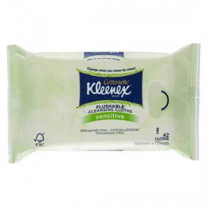 Kleenex Cottonelle Flushable Cleansing Cloths Sensitive Refill