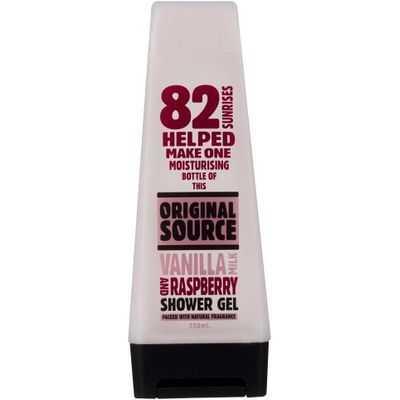 Original Source Body Wash Shower Gel Vanilla Milk Raspry