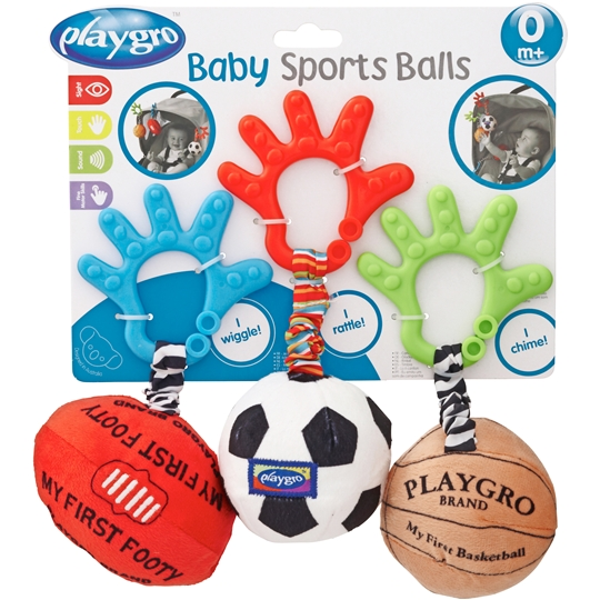 Playgro Baby Toy Ball Trio