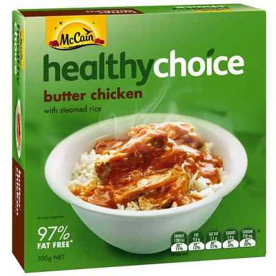 Mccain Healthy Choice Butter Chicken Bowl