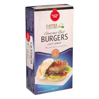 Cattle Country Beef Burger Gluten Free