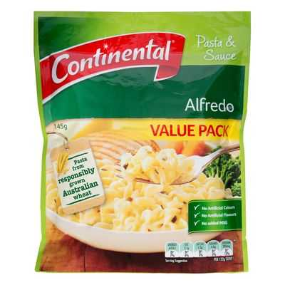Continental Value Pack Pasta & Sauce Alfredo