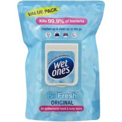 Wet Ones Moist Wipes Be Fresh