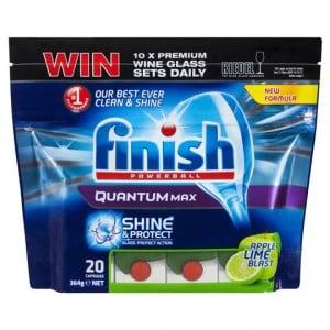 Finish Powerball Quantum Max Dishwashing Tablets Apple Lime Blast