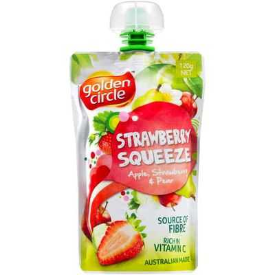 Golden Circle Puree Strawberry Squeeze