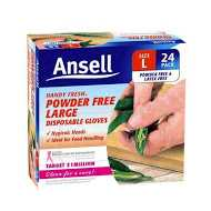 Ansell Gloves Powder Free Disposabe Small