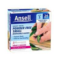 Ansell Gloves Powder Free Disposable Large
