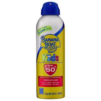 Banana Boat Spf 50+ Sunscreen Kids Clear Spray