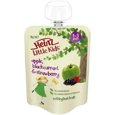 Heinz Little Kids 1-3 Years Apple Blackcurrant Strawberry