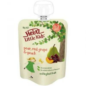 Heinz Little Kids 1-3 Years Pear Red Grape & Peach