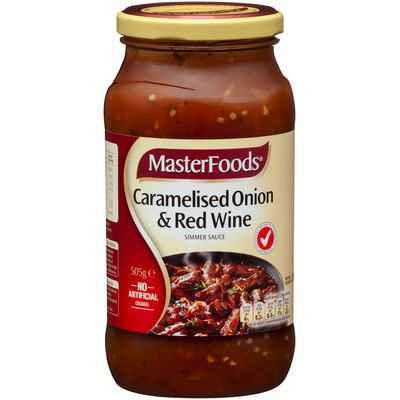 Masterfoods Simmer Sauce Caramelised Onion & Red Wine