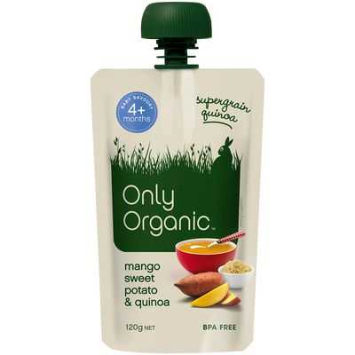Only Organic 4 Months Mango Sweet Potato & Quinoa