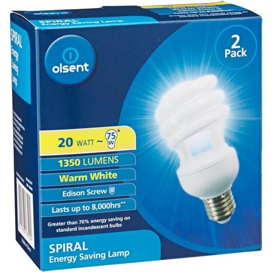 Olsent Spiral Cfl Warm White Es 20w