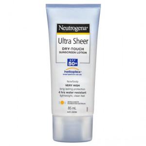 Neutrogena Spf 50+ Sunscreen Ultra Sheer Lotin