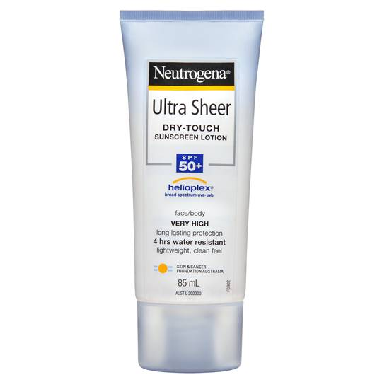 Neutrogena Spf 50+ Sunscreen Ultra Sheer Lotin