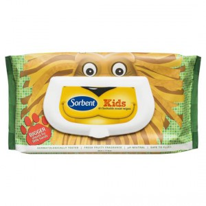 Sorbent Flushable Wipes Kids