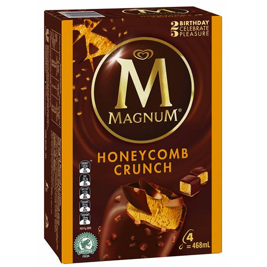 Streets Magnum Ice Cream Honeycomb Crunch