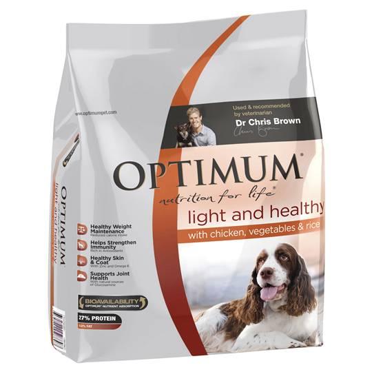 Optimum Adult Dog Food Light & Healthy Chicken