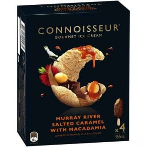 Connoisseur Ice Cream Salted Caramel Macadamia