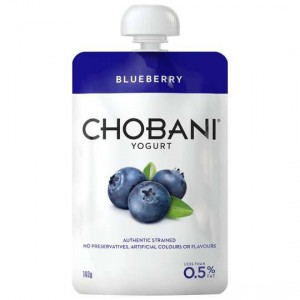 Chobani No Fat Blueberry Yoghurt Pouch