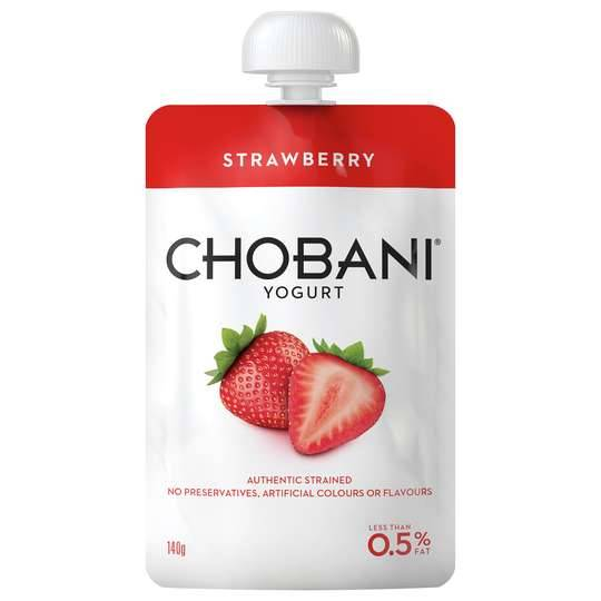Chobani No Fat Strawberry Yoghurt Pouch