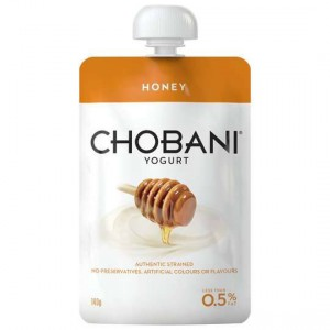 Chobani No Fat Honey Yoghurt Pouch