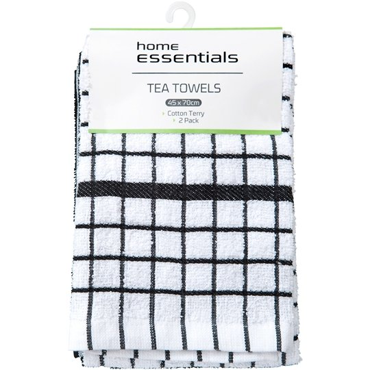 Home Essentials Kitchen Manchester Tea Towel Heavy Weight Terry