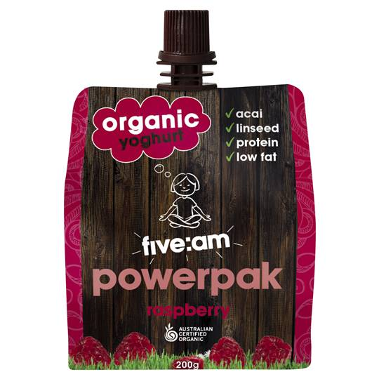 Five:am Organic Raspberry Yoghurt Powerpak