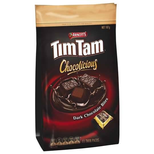 Arnott's Tim Tam Chocolate Chocolicious Bites Dark Choc