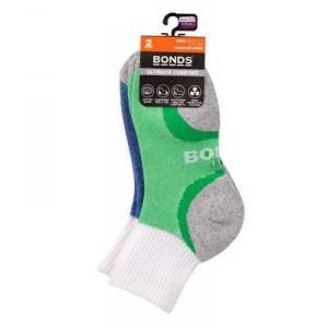 Bonds Kids Socks Ultimate Comfort 1/4 Crew 13+