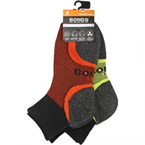 Bonds Kids Socks Ultimate Comfort 1/4 Crew 2-8