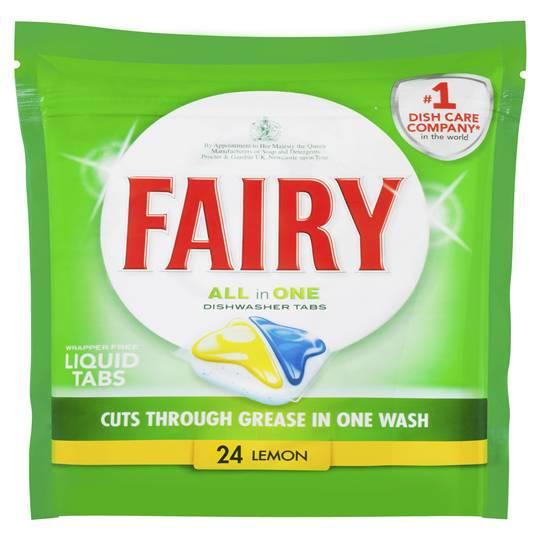 Fairy All In One Dishwasher Tablet Lemon 24pk