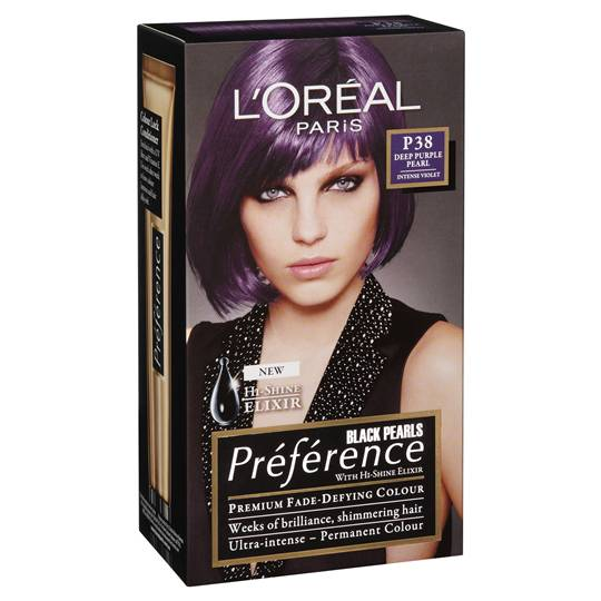 L'oreal Preference Deep Purple Pearl P38
