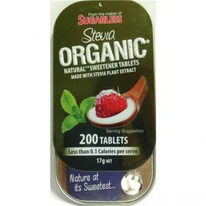 Sugarless Stevia Organic Natural Sweetener Tablets