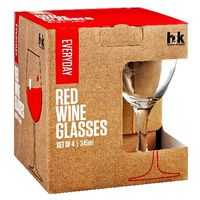H2k Everyday Glassware Red Wine Set