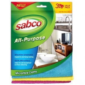 Sabco All Purpose Microfibre Cloths