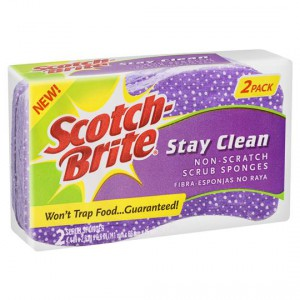 Scotch-brite Stay Clean No Scratch Scrub Sponge