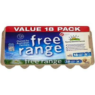 Sunny Queen Free Range Eggs Large