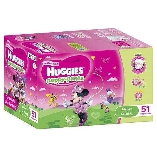 Huggies Nappy-pants Walker Girl 14-18kgs Jumbo