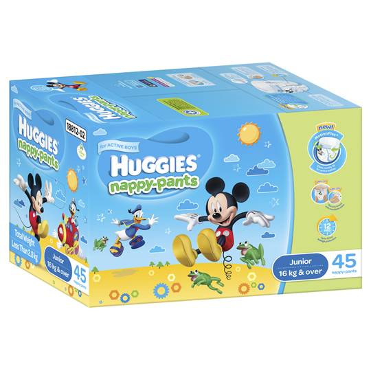 Huggies Nappy-pants Junior Boy 16+kgs Jumbo