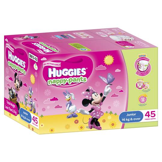 Huggies Nappy-pants Junior Girl 16+kgs Jumbo