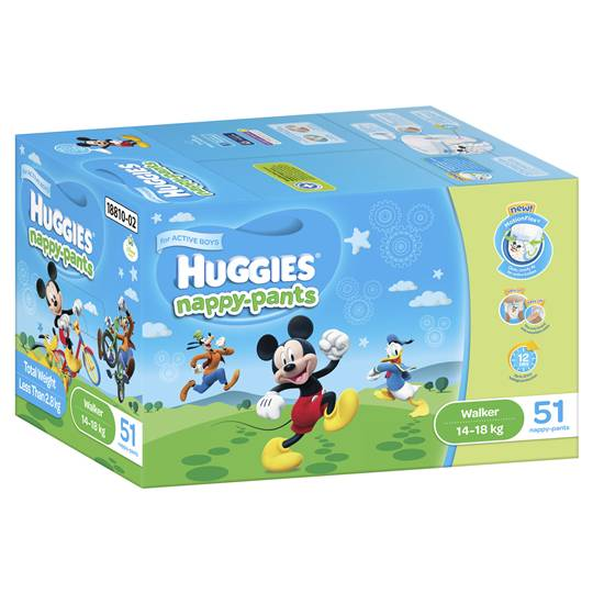 Huggies Nappy-pants Walker Boy 14-18kgs Jumbo