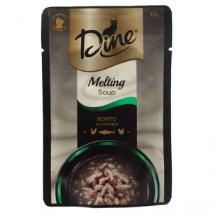 Dine Desire Adult Cat Food Bonito & Chicken Melting Soup