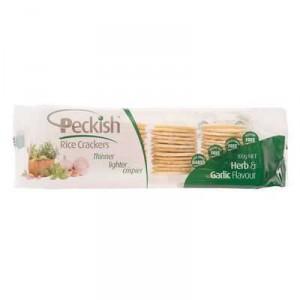 Peckish Rice Crackers Garlic & Herb