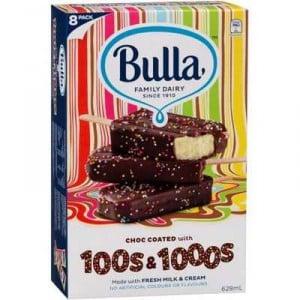 Bulla Ice Cream 100s & 1000s