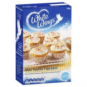 White Wings Cake Mix Mini Vanilla Cupcake