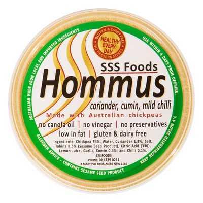 Sss Dip Hummus, Coriander, Cumin & Mild Chilli