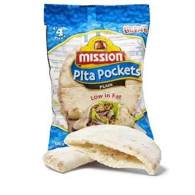 Mission Pita Bread Pockets Plain
