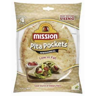 Mission Pita Bread Pockets Wholemeal